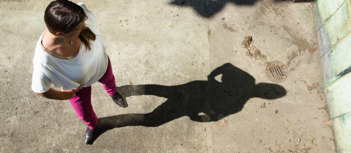 Therése Stoll und ihr Schatten